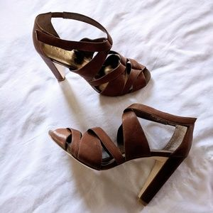 Woman's BCBG Strappy Chunky Heels